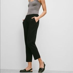 Aritzia Babaton Cohen Black Pleated Pant